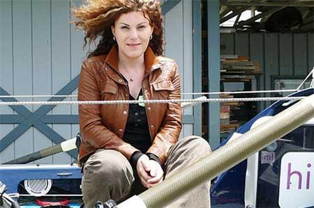 Janice Jakait rudert für den Schutz der Weltmeere. Foto: privat