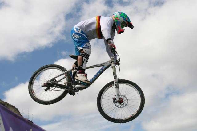 Antje Kramer (42) wird bei den deutschen  Meisterschaften im Downhill antreten ( Bad Wildbad, 24. Juli 2011).  Die Krankenschwester ist siebenfache deutsche Meisterin, zum achten Mal will sie sich den Titel holen.