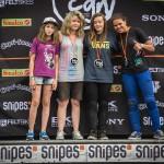Siegerehrung: v. l. Luzie Ronkholz (5.), Rebecca Berg (3.), Lara Lessmann (1.), Shanice Silva Cruz (2.)