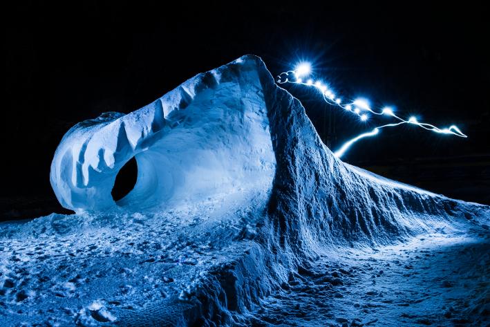 Art on Snow Schneeskulpur von M.Kösel und D.Rauch